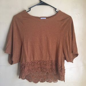 Burnt Orange Flowy Top